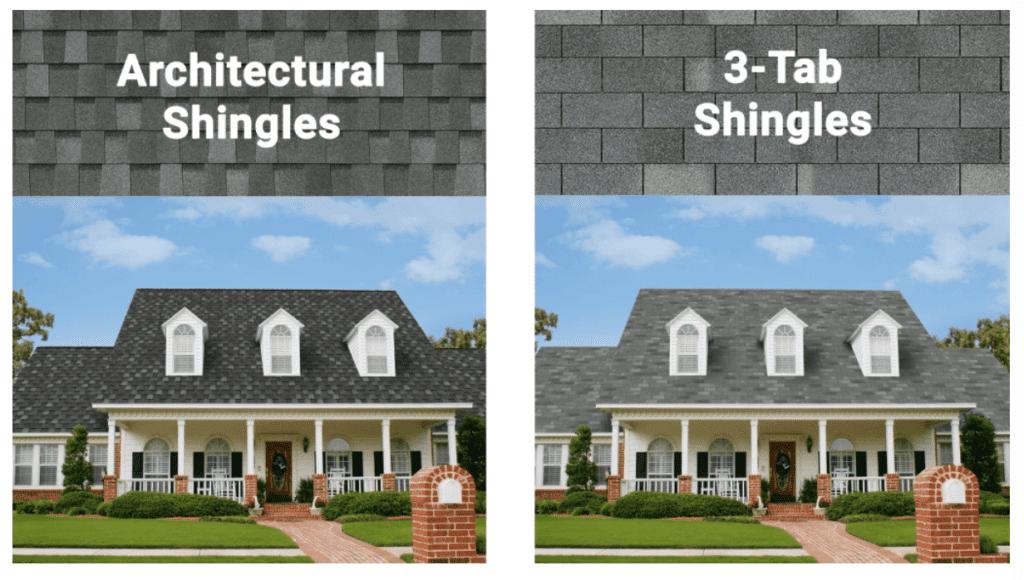 Complete Comparison of 3-Tab vs Architectural Shingles